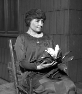 This is a picture of the blind and deaf American scholar, Helen Keller. The photograph was taken around 1920 when Miss Keller would have been about 40 years old. From: http://en.wikipedia.org/wiki/Helen_Keller