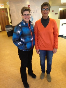 Sabeen Mahmud and I at the University of Chicago bookstore on February 24, 2015.