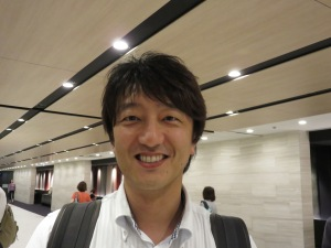 Nobuya Sato at the Kyoto Train Station in the summer of 2014.