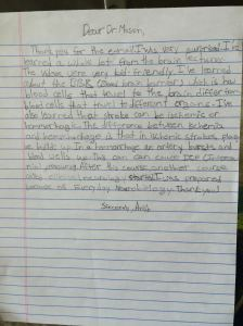 This letter from young Anish G, thanking me for birthday wishes that I sent him.