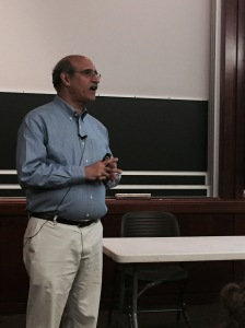 Martin Chalfie while giving a talk at the University of Chicago on June 11, 2015.