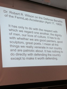 Martin Chalfie's final slide showed this quote from Robert Wilson.